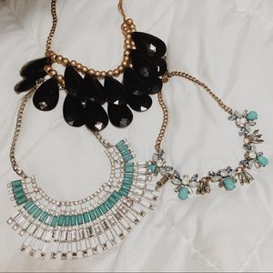 Jewelry - 3 gorgeous statement necklaces